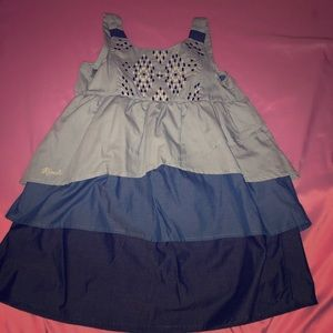 Soft denim blue dress